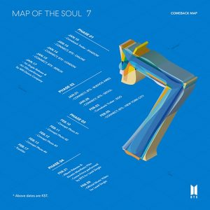 MAP OF THE SOUL : 7 / BTS Album Cover
